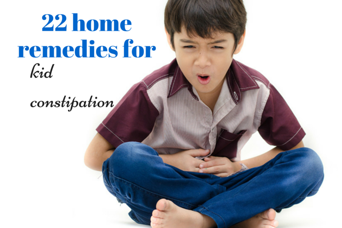 kid constipation at home remedies