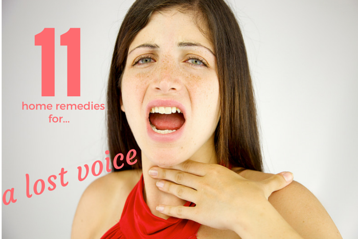 What are some natural remedies for a lost voice?