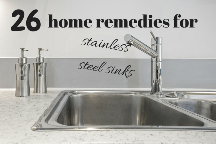home remedies for stainless steal sinks
