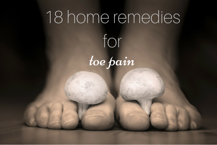 at home cures and remedies for toe pain