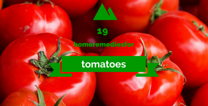 home remedies using tomatoes