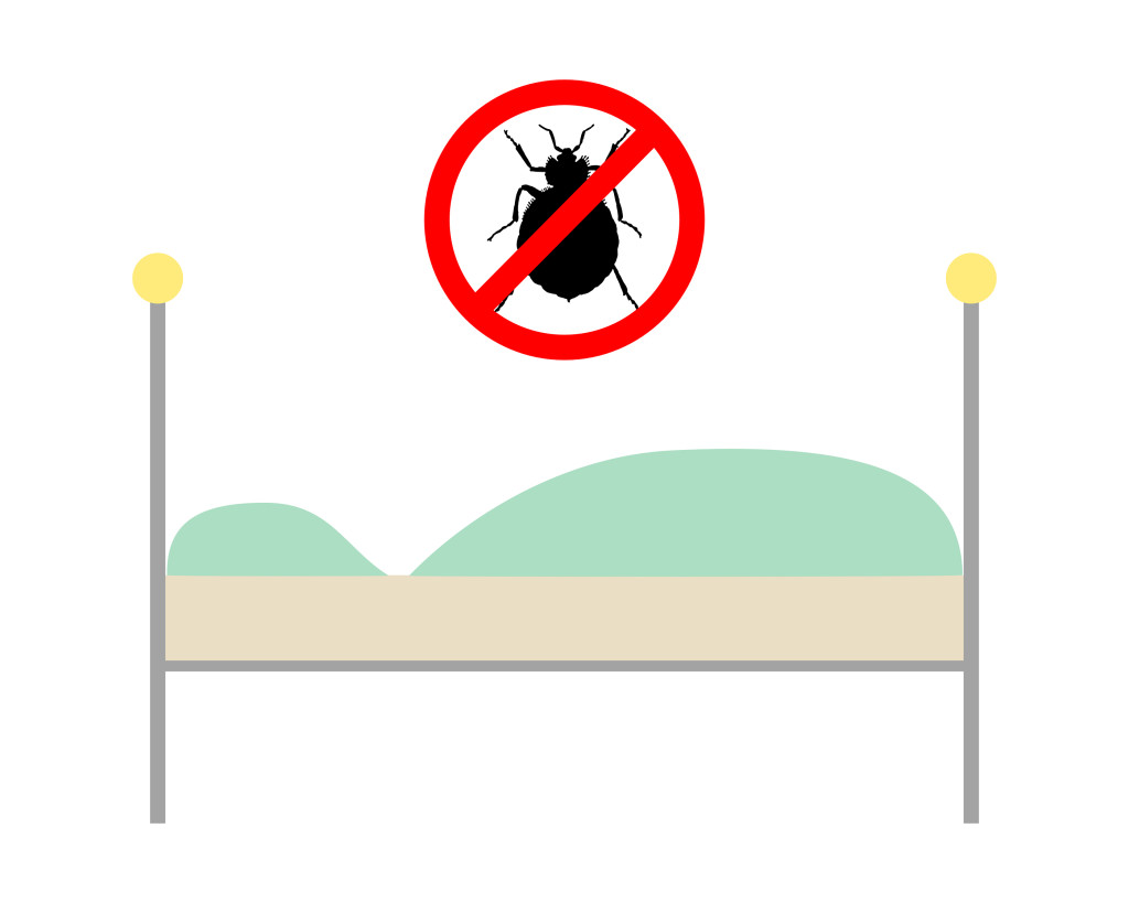 Baby bed bugs in bathroom - Prohibition Sign For Bedbugs