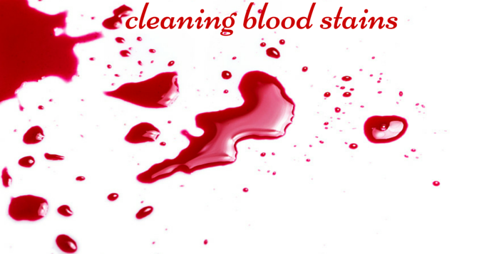 home remedies to clean up blood stains