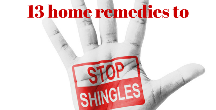 home remedies to stop shingles